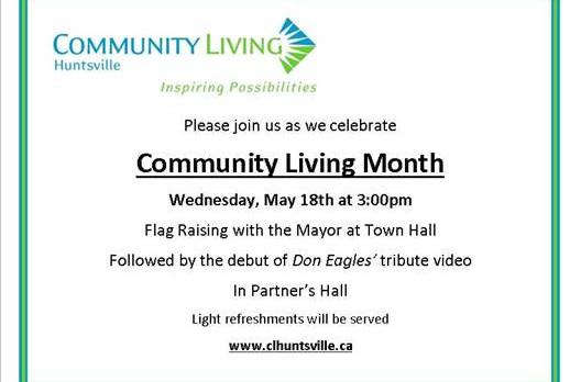 Community Living Huntsville slider Join us on May 18 at 3 p.m. for Community Living Month!