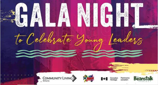 Image is a poster to promote the gala and event partners. Text reads: Gala Night to Celebrate Young Leaders.