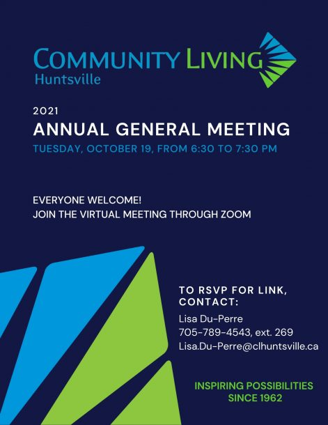 2021 Annual General Meeting Poster
